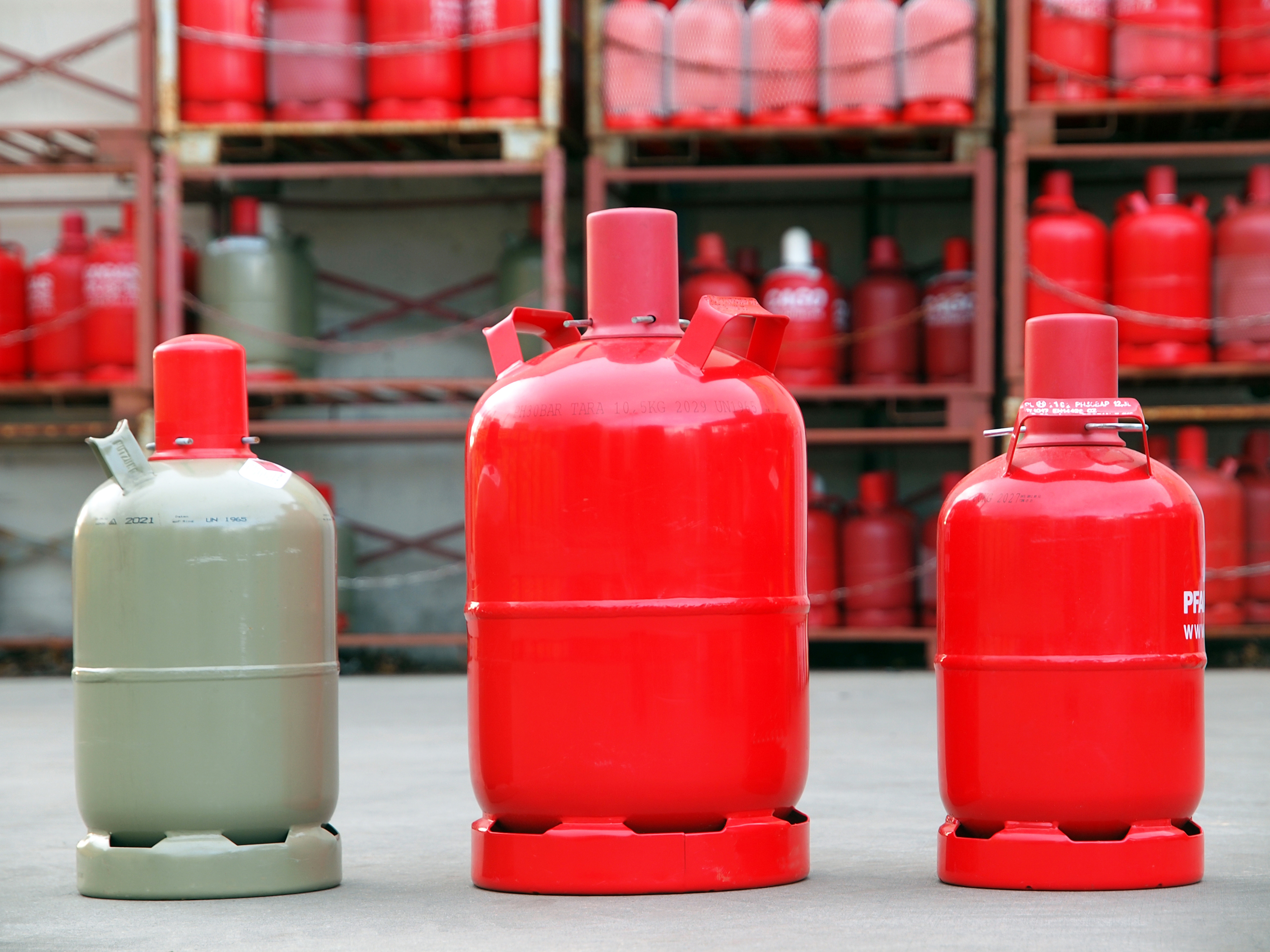 Flüssiggasflaschen